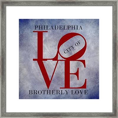 Philadelphia City Of Brotherly Love  Framed Print by Movie Poster Prints