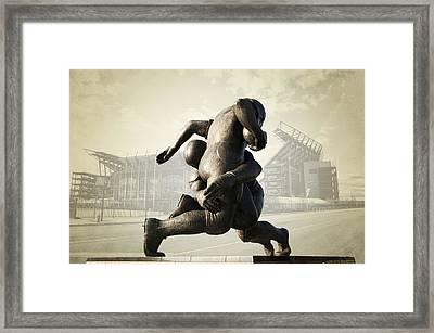 Philadelphia Eagles Framed Print by Bill Cannon