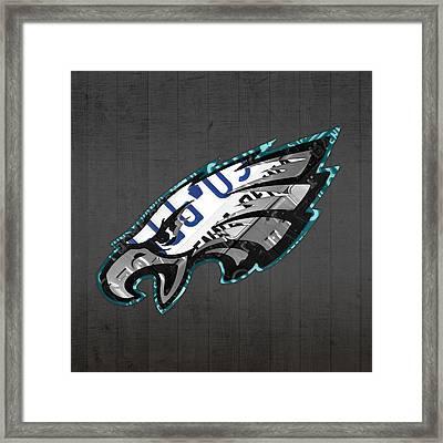 Philadelphia Eagles Football Team Retro Logo Pennsylvania License Plate Art Framed Print by Design Turnpike