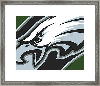 Philadelphia Eagles Football Framed Print by Tony Rubino