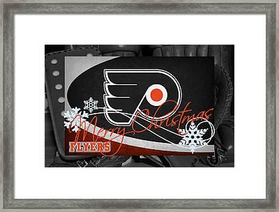 Philadelphia Flyers Christmas Framed Print by Joe Hamilton
