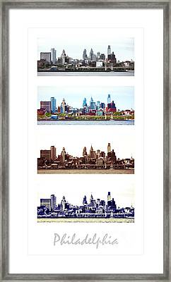 Philadelphia Four Seasons Framed Print by Olivier Le Queinec