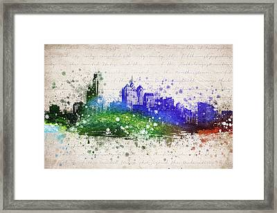 Philadelphia In Color Framed Print by Aged Pixel