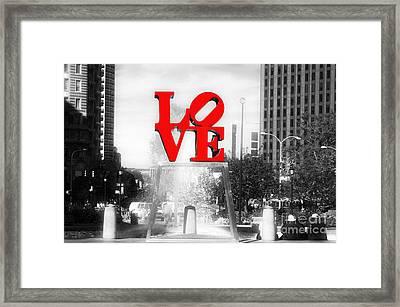 Philadelphia Love Fusion Framed Print by John Rizzuto