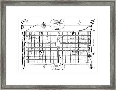 Philadelphia: Map, 1683 Framed Print by Granger