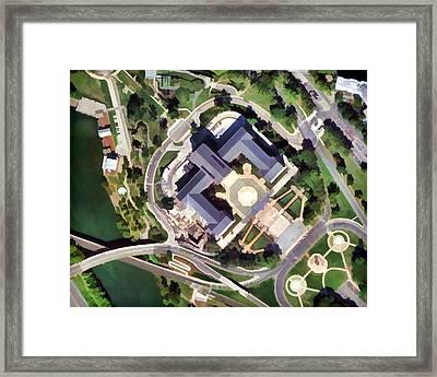 Philadelphia Museum Map Framed Print by Flo Karp
