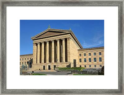 Philadelphia Museum Of Art Rear Facade Framed Print by Olivier Le Queinec