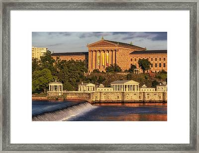 Philadelphia Museum Of Art Framed Print by Susan Candelario