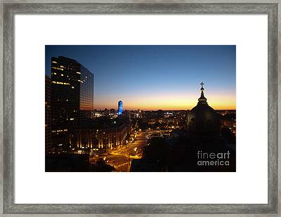 Philadelphia Night Framed Print by Tatianne Lugo