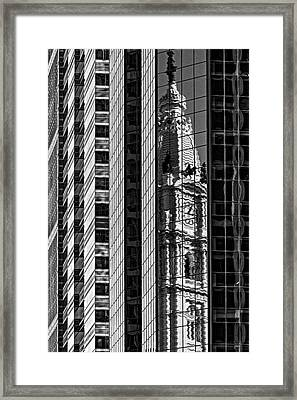 Philadelphia Reflections - Bw Framed Print by Susan Candelario