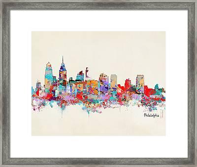 Philadelphia Skyline Framed Print by Bri B