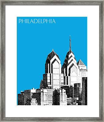 Philadelphia Skyline Liberty Place 1 - Ice Blue Framed Print by DB Artist