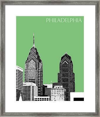 Philadelphia Skyline Liberty Place 2 - Apple Framed Print by DB Artist
