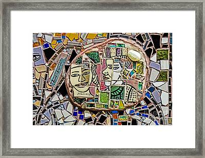 Philadelphia Tile Art Graffiti Framed Print by Gary Keesler