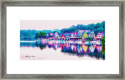 Philadelphia's Boathouse Row On The Schuylkill River Framed Print by Bill Cannon