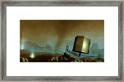 Philae Probe On Surface Of A Comet Framed Print by Mark Garlick