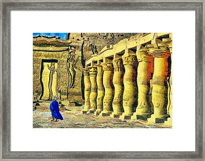 Philae Temple Framed Print by George Rossidis
