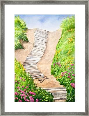 Philbin Beach Path Framed Print by Michelle Wiarda