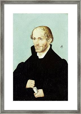 Philipp Melanchthon, Church Reformer, Workshop Of Lucas Framed Print by Litz Collection