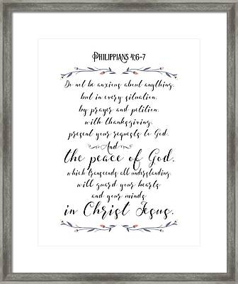 Philippians 4 Framed Print by Tara Moss