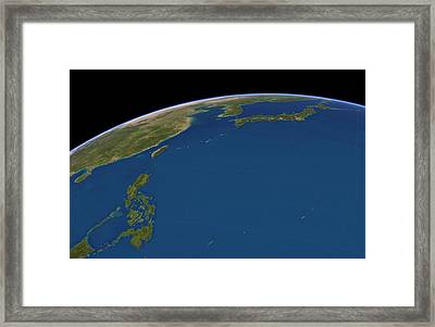 Philippine Sea, Satellite Artwork Framed Print by Science Photo Library