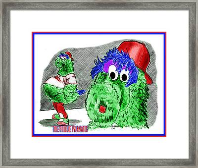 Phillie Phanatic Framed Print by Chris  DelVecchio