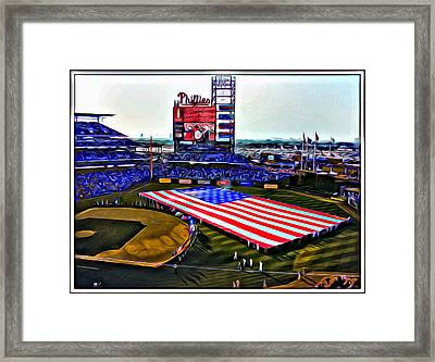 Phillies American Framed Print by Alice Gipson