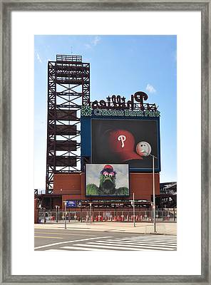 Phillies Citizens Bank Park - Baseball Stadium Framed Print by Bill Cannon