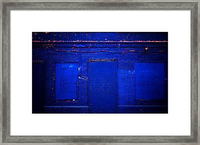 Philly Blues Framed Print by Beth Akerman