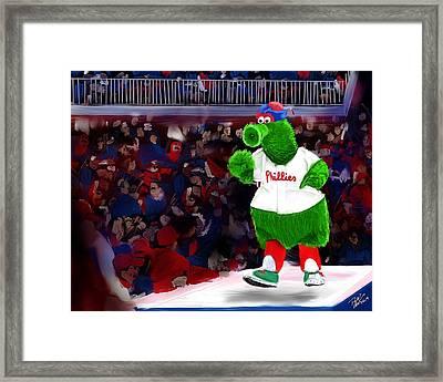 Philly Phanatic Framed Print by Randy Hulshizer