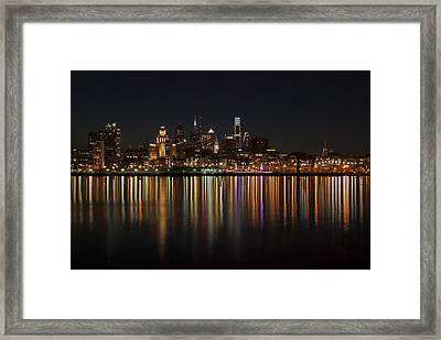 Philly Night Framed Print by Jennifer Ancker