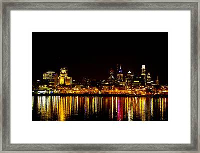 Philly Nights Framed Print by Bill Cannon