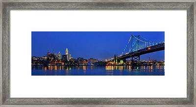 Philly Panorama Framed Print by Benjamin Yeager