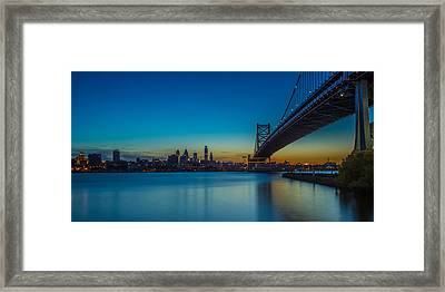Philly Skyline Framed Print by David Hahn