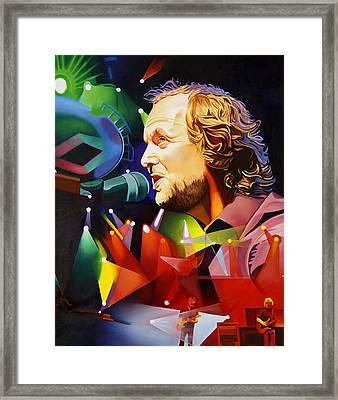 Phish Full Band Mcconnell Framed Print by Joshua Morton