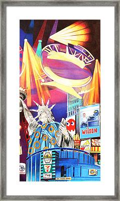 Phish New Years In New York Right Panel Framed Print by Joshua Morton