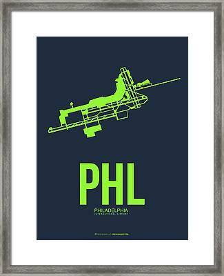 Phl Philadelphia Airport Poster 3 Framed Print by Naxart Studio