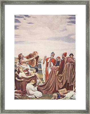 Phoenicians Trading With Early Britons Framed Print by Frederic Leighton