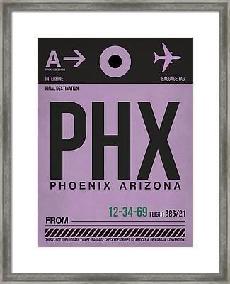 Phoenix Airport Poster 1 Framed Print by Naxart Studio