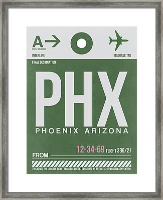 Phoenix Airport Poster 2 Framed Print by Naxart Studio