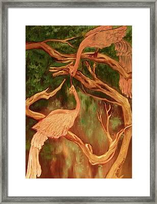 Phoenix-dares To Love Again Framed Print by Beth Arroyo