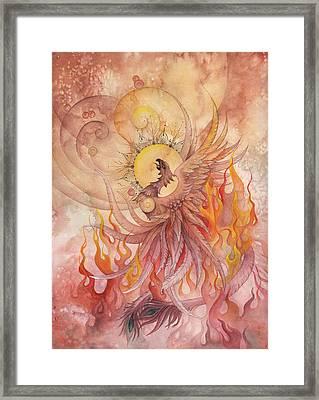 Phoenix Rising Framed Print by Ellen Starr
