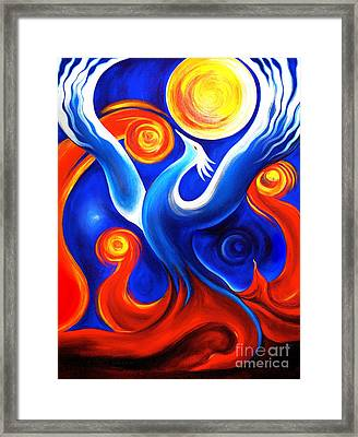 Phoenix Rising Framed Print by Gem S Visionary