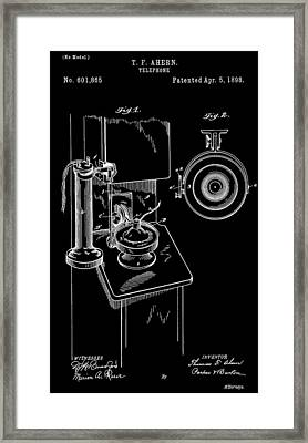 Phone Patent Framed Print by Dan Sproul