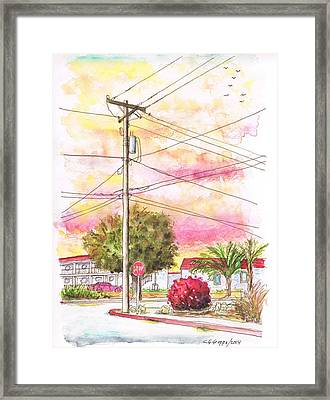 Phone Pole In Arroyo Grande - Californa Framed Print by Carlos G Groppa