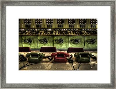 Phones Of Power Framed Print by Nathan Wright
