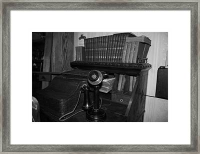 Phoning You Back Framed Print by Cecilia Aumen