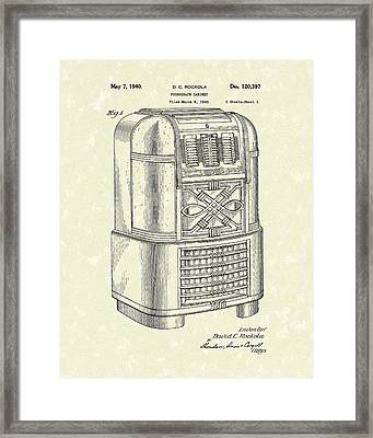 Phonograph Cabinet 1940 Patent Art Framed Print by Prior Art Design