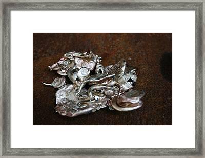 Photo Of Mixed Metal Sculpture Framed Print by Matthew Brzostoski
