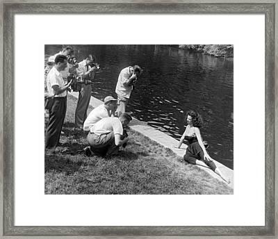 Photogenic Photo Shoot Framed Print by Underwood Archives